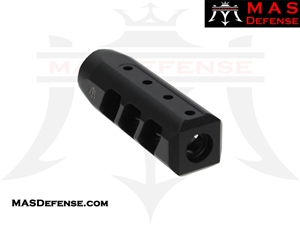 MAS DEFENSE RIOT 9MM MUZZLE BRAKE - MELONITE NITRIDE  - 1/2x36 TPI