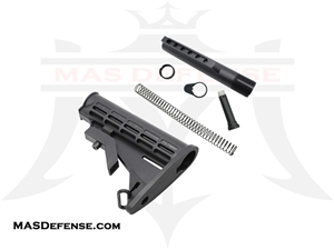 M4 STOCK AND 6 POSITION COMPLETE BUFFER TUBE KIT - MIL-SPEC - AR15
