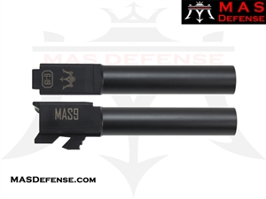 MAS DEFENSE 9MM 416R STAINLESS STEEL GLOCK 19 BARREL - MELONITE NITRIDE