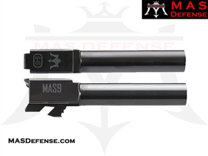 MAS DEFENSE 9MM 416R STAINLESS STEEL GLOCK 19 BARREL - RADIANT GRAY (DLC)