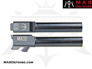 MAS DEFENSE 9MM 416R STAINLESS STEEL GLOCK 19 BARREL - RADIANT BLUE HAZE (BLUE GRAY)