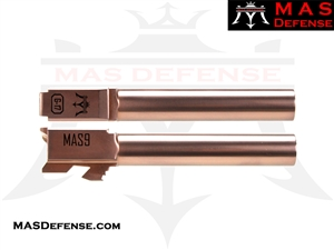 ***BLEM*** MAS DEFENSE 9MM 416R STAINLESS STEEL GLOCK 17 BARREL - RADIANT BRONZE (ROSE GOLD)