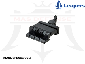 UTG SINGLE RAIL 3-SLOT ANGLE MOUNT w/QD LEVER MOUNT - MAS0340