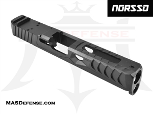 NORSSO REPTILE PORTED CUT SLIDE FOR GLOCK 17 GEN 1-3 WITH RMR OPTIC CUT  - N17-REP-PORT-3 N17-REP-PORT