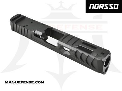 NORSSO REPTILE C CUT SLIDE FOR GLOCK 19 GEN 1-3 WITH RMR OPTIC CUT - N19-REPCOMP N19-REPCOMP-3-DLC