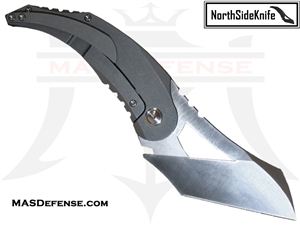 NORTH SIDE KNIFE TITANIUM (6AL4V) KOMODO - RAW / STONEWASH