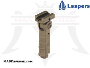 UTG AMBIDEXTROUS 5-POSITION FOLDABLE FOREGRIP - FLAT DARK EARTH (FDE) - RB-FGRP170D