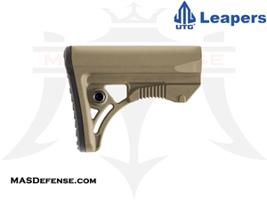 UTG PRO OPS READY S3 COMPACT STOCK - MILSPEC - FLAT DARK EARTH (FDE) - RBUS3DMS