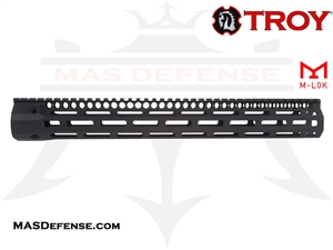 "TROY INDUSTRIES 15.125"" SOCC151  BATTLERAIL M-LOK - BLACK - SRAI-SR1-15BT-00"