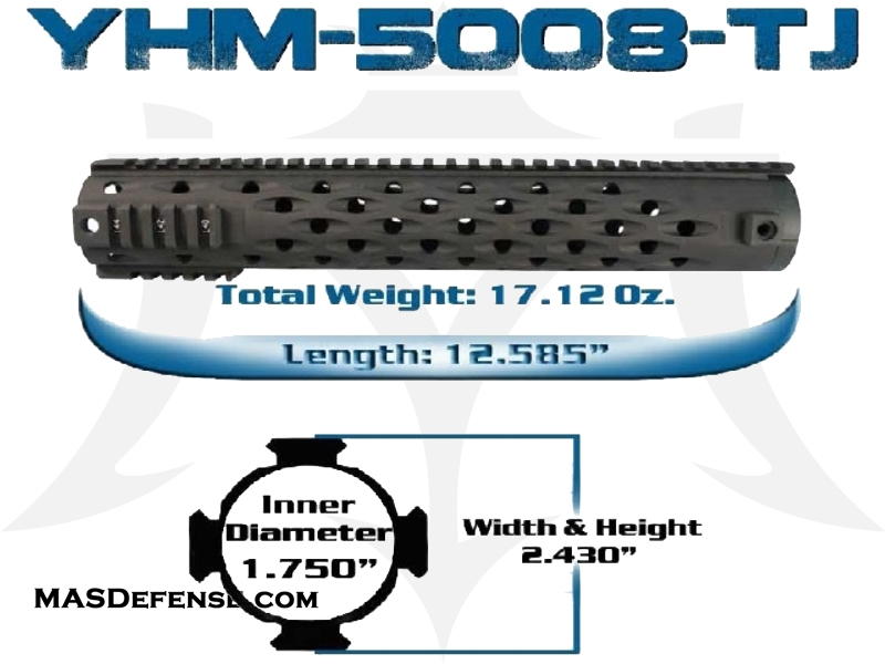 Yankee Hill Machine Todd Jarrett Handguard 12.585 Inch Black YHM-5008-TJ